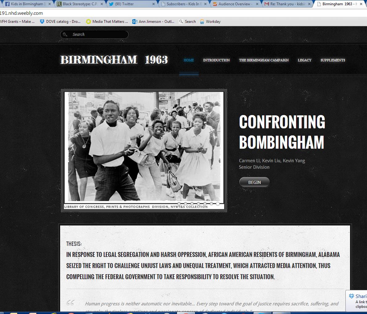 Living History | Kids In Birmingham 1963